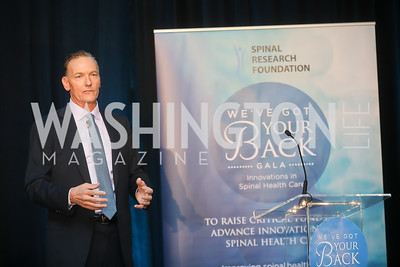 Dr. Tom Schuler. Photo by Tony Powell. Inaugural Spinal Research Foundation Gala. Ritz Tysons. November 3, 2018