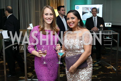 Melissa Haines, Rina Bharara. Photo by Tony Powell. Inaugural Spinal Research Foundation Gala. Ritz Tysons. November 3, 2018