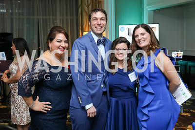 Rita Roy, Chris Gorini, Sabrina Woodlief, Kari Reed. Photo by Tony Powell. Inaugural Spinal Research Foundation Gala. Ritz Tysons. November 3, 2018