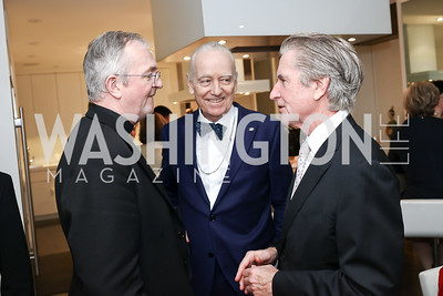 Father Tim Cole, Bruce Ross-Larson, Carl Colby. Photo by Tony Powell. The Last Empresses of China Reception. Pillsbury Residence. March 7, 2018