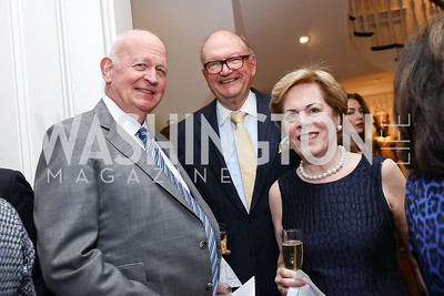 Michael Pillsbury, Hank and Betsy Werronen. Photo by Tony Powell. The Last Empresses of China Reception. Pillsbury Residence. March 7, 2018