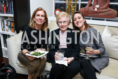 Marcia Rounsaville, Lois Raphling, Jessica Duby. Photo by Tony Powell. The Last Empresses of China Reception. Pillsbury Residence. March 7, 2018