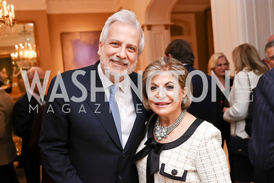 Philippe Auguin, Annie Totah. Photo by Tony Powell. Philippe Auguin Farewell. Residence of France. March 15, 2018