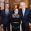 France Amb. Gerard Araud, Ruth Bader Ginsburg, Philippe Auguin. Photo by Tony Powell. Philippe Auguin Farewell. Residence of France. March 15, 2018