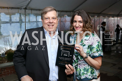 "Mark Penn, Meredith Fineman. Photo by Tony Powell. ""Microtrends Squared"" Book Party. March 20, 2018"