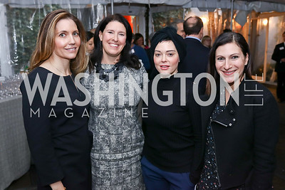 "Evan Ryan, Susannah Wellford, Rose McGowan, Shana Glickfield. Photo by Tony Powell. ""Microtrends Squared"" Book Party. March 20, 2018"