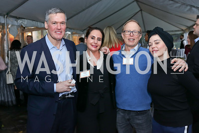 "Dr. Sam Stopak, Dr. Mia Kogan, John Jameson, Rose McGowan. Photo by Tony Powell. ""Microtrends Squared"" Book Party. March 20, 2018"