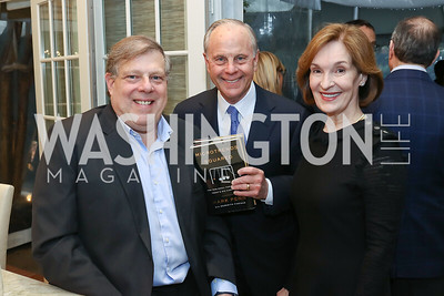 "Mark Penn, Mack and Donna McLarty. Photo by Tony Powell. ""Microtrends Squared"" Book Party. March 20, 2018"