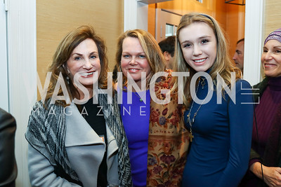 "Margie Sullivan, April Delaney, Lily Delaney. Photo by Tony Powell. ""Microtrends Squared"" Book Party. March 20, 2018"
