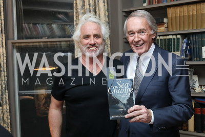"Max Kennedy, Sen. Ed Markey. Photo by Tony Powell. Max Kennedy ""Sea Change"" Book Party. Nixon Residence. December 4, 2019"