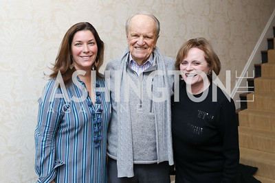 "Sarah Nixon, George and Elizabeth Stevens. Photo by Tony Powell. Max Kennedy ""Sea Change"" Book Party. Nixon Residence. December 4, 2019"