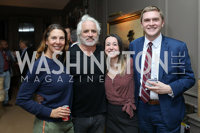 "Vicki and Max Kennedy, Spencer Strauss, Eric Marter. Photo by Tony Powell. Max Kennedy ""Sea Change"" Book Party. Nixon Residence. December 4, 2019"