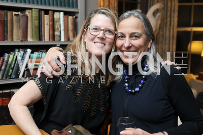 "Abby Spring, Liz Barratt-Brown. Photo by Tony Powell. Max Kennedy ""Sea Change"" Book Party. Nixon Residence. December 4, 2019"