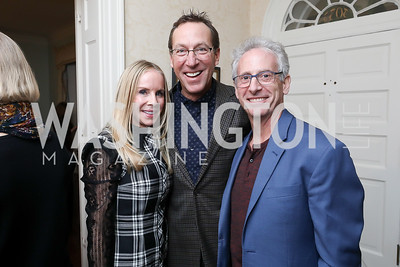 "Cindy Jones, Robby Pitagora, Chuck Fleischman. Photo by Tony Powell. Max Kennedy ""Sea Change"" Book Party. Nixon Residence. December 4, 2019"