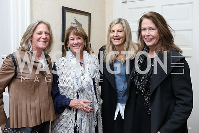 "Debbie Dockser, Susie Trees, Sissy Yates, Ginger Pape. Photo by Tony Powell. Max Kennedy ""Sea Change"" Book Party. Nixon Residence. December 4, 2019"