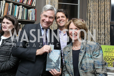 "Sen. Sheldon Whitehouse, Mark Shriver, Kathleen Kennedy Townsend. Photo by Tony Powell. Max Kennedy ""Sea Change"" Book Party. Nixon Residence. December 4, 2019"