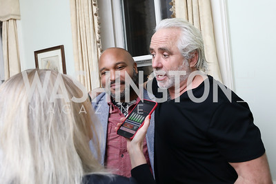 "David Smith, Max Kennedy. Photo by Tony Powell. Max Kennedy ""Sea Change"" Book Party. Nixon Residence. December 4, 2019"