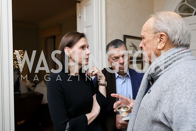 "Ludmila Cafritz, Conrad Cafritz, George Stevens. Photo by Tony Powell. Max Kennedy ""Sea Change"" Book Party. Nixon Residence. December 4, 2019"