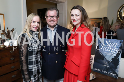 "Cindy Jones, Damir and Amra Fazlic. Photo by Tony Powell. Max Kennedy ""Sea Change"" Book Party. Nixon Residence. December 4, 2019"