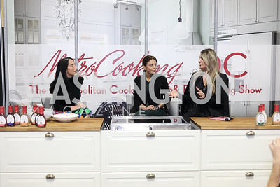 Catherine Trifiletti, Bethenny Frankel, Virginia Coyne. Photo by Tony Powell. Metro Cooking DC. Bethenny Frankel. Convention Center. December 2, 2018