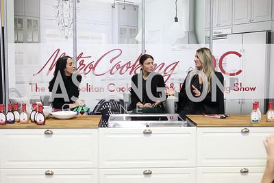 Catherine Trifiletti, Bethenny Frankel, Virginia Coyne. Photo by Tony Powell. Metro Cooking DC. Bethenny Frankel. Convention Center. December 2, 2018