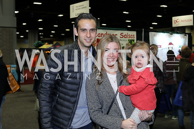 Thomas, Christie and Natalie  Heidenberger. Photo by Tony Powell. Metro Cooking DC. Bethenny Frankel. Convention Center. December 2, 2018