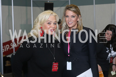 Kimberly Casey, Kara Krause. Photo by Tony Powell. Metro Cooking DC. Bethenny Frankel. Convention Center. December 2, 2018