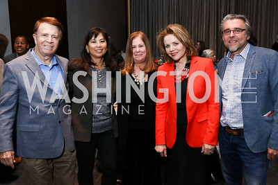 Gary Mather, Tina Mather, Susan Koch, Renee Fleming, Neal Barrett. Photo by Tony Powell. Music Got Me Here Screening. Kennedy Center. January 10, 2018