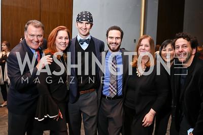Kent Allen, Rae Stone, Forrest Allen, Austin Allen, Susan Koch, Tina Mather, Tom Sweitzer. Photo by Tony Powell. Music Got Me Here Screening. Kennedy Center. January 10, 2018