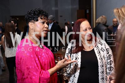 Tracy Hamlin, Priscilla Clark. Photo by Tony Powell. Music Got Me Here Screening. Kennedy Center. January 10, 2018