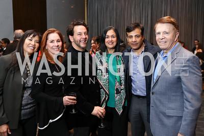 Tina Mather, Rae Stone, Tom Sweitzer, Tinu and Rahul Prakash, Gary Mather. Photo by Tony Powell. Music Got Me Here Screening. Kennedy Center. January 10, 2018