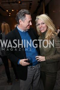 Executive Producer Tim Rockwood, Jennifer Vinson. Photo by Tony Powell. Music Got Me Here Screening. Kennedy Center. January 10, 2018