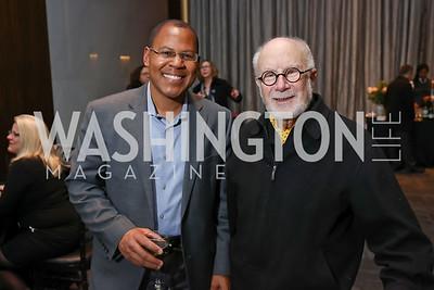 Jason Geary, David Levy. Photo by Tony Powell. Music Got Me Here Screening. Kennedy Center. January 10, 2018