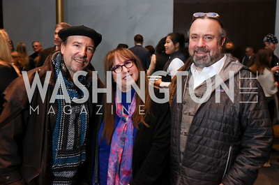 Cliff Hackel, Diane Blagman, Bruce Kieloch. Photo by Tony Powell. Music Got Me Here Screening. Kennedy Center. January 10, 2018