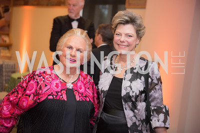 Jacqueline Mars, Cokie Roberts,  National Archives Foundation, Records of Achievement Gala, Honoring First Lady Laura Bush.  October 10, 2018.  Photo by Ben Droz.