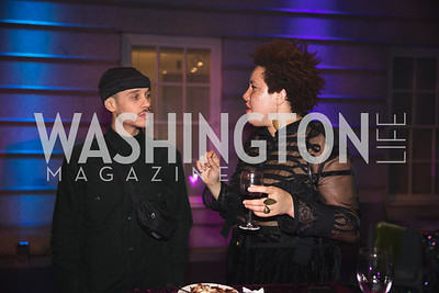 "Carlos Duque, Deirdre Darden. Photo by Bruce Allen. National Portrait Gallery ""Face Forward"" Artist Party."