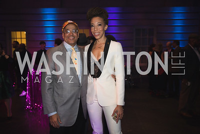 "Lyndon Barrois, Amy Sherald. Photo by Bruce Allen. National Portrait Gallery ""Face Forward"" Artist Party."