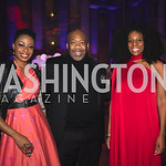 "Joy Kingsley, Maurice Scott, Isoke Salaam. Photo by Bruce Allen. National Portrait Gallery ""Face Forward"" Artist Party."