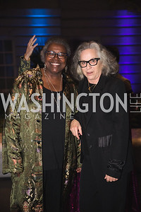 "Aj Verdel, Deborah Kass, Photo by Bruce Allen. National Portrait Gallery ""Face Forward"" Artist Party."
