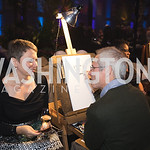 "Caricature Artist Draws Volunteer. Photo by Bruce Allen. National Portrait Gallery ""Face Forward"" Artist Party."
