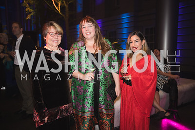 "Beth Py-Lieberman, Hilary-Morgan Watt, Karen Vidangos. Photo by Bruce Allen. National Portrait Gallery ""Face Forward"" Artist Party."
