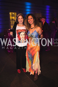 "Maria Otero, Tainia Cargol. Photo by Bruce Allen. National Portrait Gallery ""Face Forward"" Artist Party."