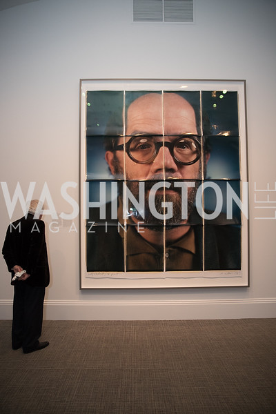 "Chuck Close Self Portrait. Photo by Bruce Allen. National Portrait Gallery ""Face Forward"" Artist Party."