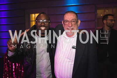 "Sheldon Scott, John Coppola. Photo by Bruce Allen. National Portrait Gallery ""Face Forward"" Artist Party."
