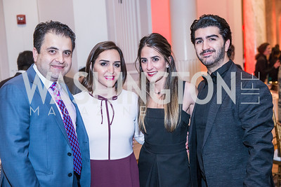Ali Herischi, Leyli Herischi, Rose Araghchi, Ramin Jahanbani, Iranian-American Nowruz Reception, Washington, DC, Carnegie Institute of Science, March 15, 2018.  Photo by Ben Droz.