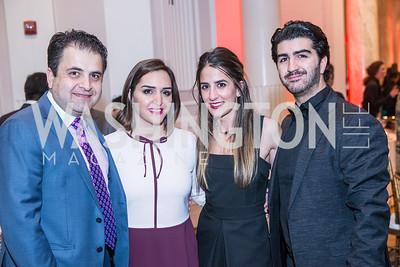 Ali Herischi, Leyli Herischi, Rose Araghchi, Ramin Jahanbani, Iranian-American Nowruz Reception, Washington, DC, Carnegie Institute of Science, March 15, 2018.  Photo by Ben Droz.
