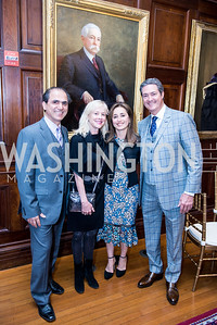 Dr. Hamed Khosravi, Judy Holland, Ellie Khosravi, Dr. John Starr, Iranian-American Nowruz Reception, Washington, DC, Carnegie Institute of Science, March 15, 2018.  Photo by Ben Droz.