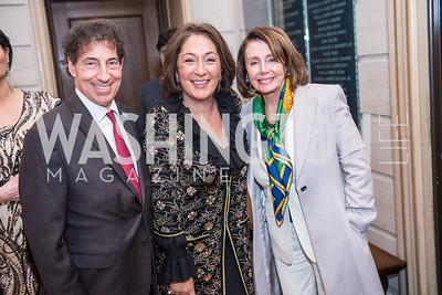 Congressman Jamie Raskin, Nazie Eftekhari, Congresswoman Nancy Pelosi, Iranian-American Nowruz Reception, Washington, DC, Carnegie Institute of Science, March 15, 2018.  Photo by Ben Droz.