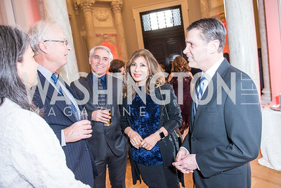 Scott and Margaret McConnell (Founding editor of The American Conservative), Serge Sira, Houri Khalilian Sira, MD State Senator Roger Manno, Iranian-American Nowruz Reception, Washington, DC, Carnegie Institute of Science, March 15, 2018.  Photo by Ben Droz.