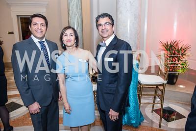 Iman Kholdebarin, Fay Moghtader, Dr. Jamal Youseffi, Iranian-American Nowruz Reception, Washington, DC, Carnegie Institute of Science, March 15, 2018.  Photo by Ben Droz.